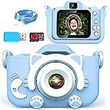 【2021新しい】子ども用 デジタルカメラ Poulep 人気 子供用 カメラ トイ 防水 女の子 男の子 誕生日プレゼント 知育 教育 2200万画素 1080P 自撮可能 32GBSDカードと日本語取扱説明書が付属