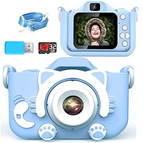 2021新しい子ども用 デジタルカメラ Poulep 人気 子供用 カメラ トイ 防水 女の子 男の子 誕生日プレゼント 知育 教育 2200万画素 1080P 自撮可能 32GBSDカードと日本語取扱説明書が付属