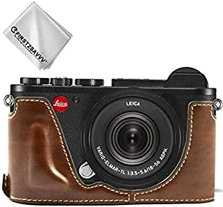 First2savvv Leather Half Camera Case Bag Cover Base for Leica CL+ Cleaning Cloth XJD-Leica CL-D10