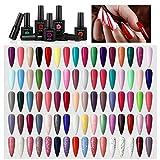 COSCELIA Kit para Uñas Semipermanente Usted Elegir Cualquier 10 Colores Esmalte en Gel Color Opcional Kit Gel Uñas