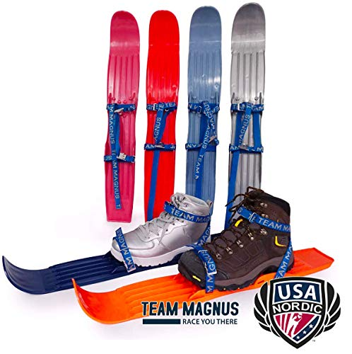 Ski für Kinder - flexibel an Stiefeln Gr 24-41 - USA Nordic & Ski Jumping Federation Hilfsmittel für Jugendtraining (Grün)