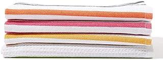 White Rose RK 113 4 Pieces Assorted Kitchen Towel Set, Multicolour - 45x70 cm