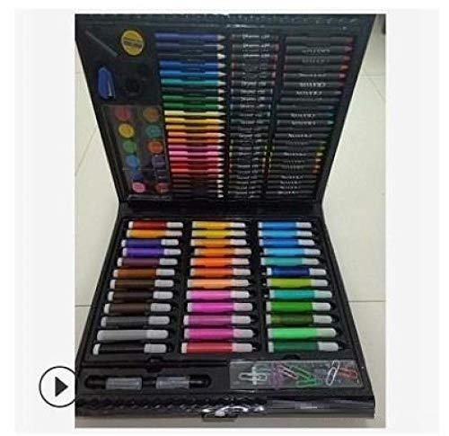 Lápices de colores de plástico para niños Crayones de pincel de acuarela lavables lápices de bellas artes-150 piezas_ Caja de lápices de colores a granel