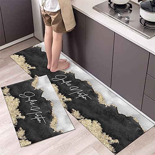 OPLJ Alfombrillas de Cocina Modernas, alfombras de Puerta de Entrada de Pasillo de balcón de Sala de Estar, alfombras Antideslizantes absorbentes de baño A6 50x160cm