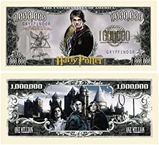 American Art Classics Harry Potter Million Dollar Bill Collectible in Currency Holder Novelty Money
