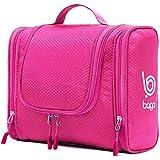 Bago Hanging Toiletry Bag For Men & Women - Toiletries Travel Organizer (Pink)
