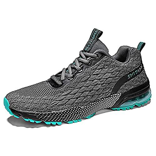 WJFGGXHK Zapatillas De Baloncesto para Hombre, Botas De Baloncesto Superior Transpirables Profesional Anti Resbalón Corriendo Zapatos para Caminar,Negro,46