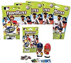 Party Animal TeenyMates 2019 MLB Series 6 Mini Figures Blind Bags Gift Set Party Bundle - 5 Pack