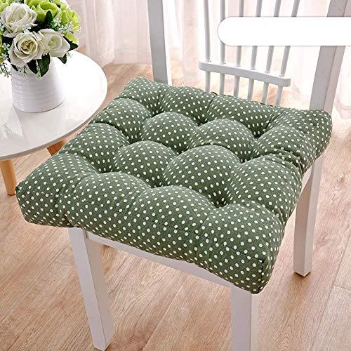 Cojines de silla cuadrada, cubiertas de silla de espesado al aire libre de interior Tela de felpa Premium Decoración para el hogar Patio transpirable Asustado Asiento Cushion-D W50XH50CM (20x20in) yqa