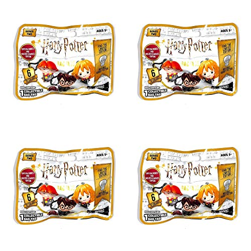 Headstart Harry Potter Bag Tags Series 2 Blind Bag Lot of 4 Bags Invisible Harry