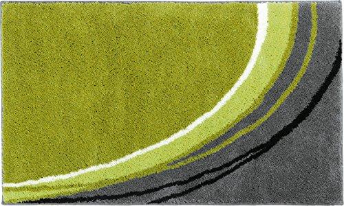 Erwin Müller Badematte, Badteppich, Badvorleger rutschhemmend grün Größe 50x80 cm - kuscheliger Hochflor, für Fußbodenheizung geeignet (weitere Farben, Größen)