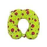 Hugger High Density Memory Form Neck Travel Pillow for Kids Children (ladybirds)