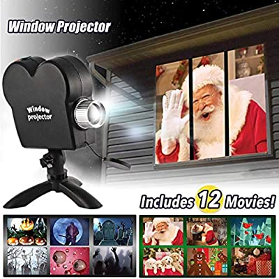 Qweidown Christmas Projector Lights,Halloween Projector,Window Projector Wonderland Decoration Projector,OutdoorChristmas Lights Waterproof Light Show Holiday Lights for Christmas