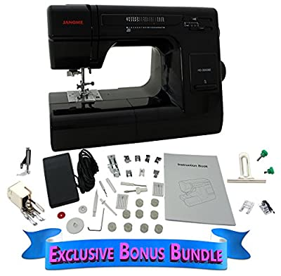 Janome HD 3000 BE Black Edition with Exclusive Bonus Bundle by