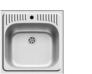 Pyramis ET34 Abwaschbecken Edelstahl Einbauspüle klein Spülbecken Küchenspüle
