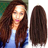 4 Packs Marley Hair 18 Inch Long Afro kinky Curly Marley braiding for Twists hair Extension Synthetic Fiber Marley Braid Crochet Hair (18 Inch, 33#)