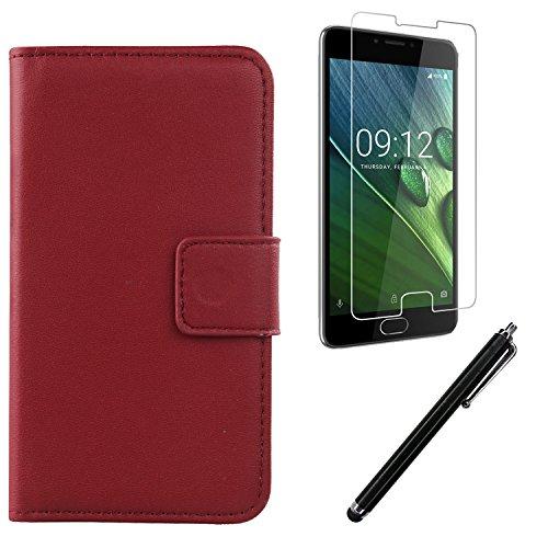 Gukas Dark Rot Echt Leder Tasche Für Acer Liquid Z6 Plus 5.5
