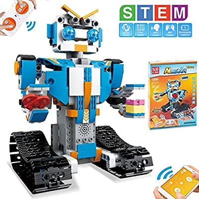 HOMOFY STEM Toys Building Blocks Robots for Kids Educational Science Kits Toys Learning Science Building Toys-Remote Control STEM Toys Robots Science Kits for Kids 8 9 10-12 Year Olds Boys Girls Gifts