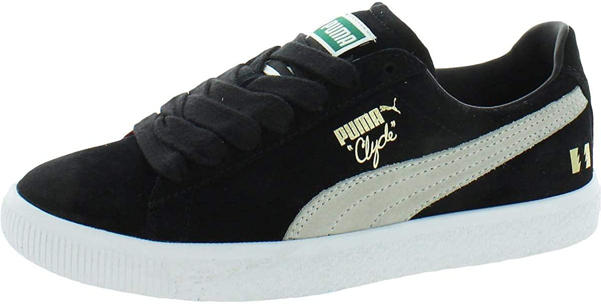 PUMA Womens Clyde The Hundreds Suede Lifestyle Fashion Sneakers
