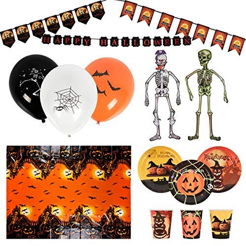 THE TWIDDLERS 80 Juego de Vajilla para Fiesta de Halloween - Decoraciones Halloween, Suministro de Fiesta Temáticos de Halloween
