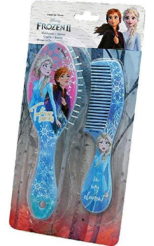 Frozen- Set Peine y Cepillo 2 Sets de cosmética y joyería, Multicolor (Kids 8435507825375)