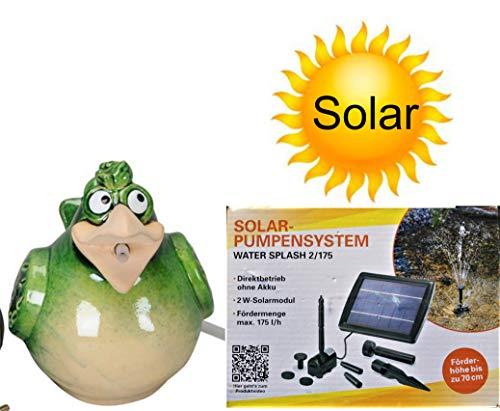 powershop11 Wasserspeier Vogel grün Solar 17 cm
