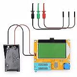 LCR-T4 ESR Medidor Transistor Tester Diodo Triodo Capacitancia SCR Inductancia 328 Pantalla LCD MOS PNP NPN (Caja de batería)..