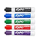Expo Low Odor Dry Erase Marker, Chisel Tip Markers, Whiteboard Markers, Assorted, 36 Count