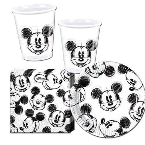 Procos 10115655–Set di Accessori per Feste Mickey Faces, S