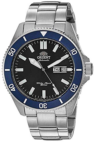 Orient Men's Kanno Japanese-Automatic Diving Watch with Stainless-Steel Strap, Silver, 21 (Model:...