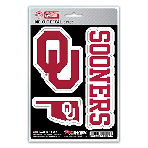 NCAA Oklahoma Sooners Team Decal, 3-Pack
