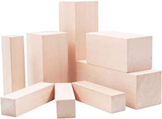 Lulu Home Basswood for Carving, Basswood Carving Whittling Blocks Kit for Beginners, 12 Pieces Smooth Basswood Carving Blo...