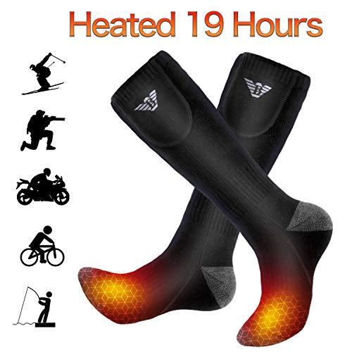NIUB5 Beheizte Socken, Heizsocken für Männer und Frauen, Beheizte Socken für Wintersport/Motorradfahren/SkifahrenBeheizte Socken, Heizsocken für Männer und Frauen, Beheizte Socken für Wintersport