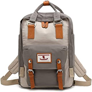 Eastern Corridor Rucksack aus Segeltuch für Mütter, Rucksack für Schule, wasserdicht, für Damen, 35,6 cm 14 Zoll Laptop für Studenten Ivory White with Grey 15  11  6 inch