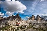 Poster 130 x 90 cm: DREI Zinnen Dolomiten Südtirol von