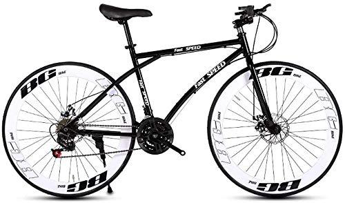 Bicicleta de carretera for hombres y mujeres, de bicicletas de 24 velocidades de 26 pulgadas de bicicletas, sólo for adultos, Marco de acero de alto carbono, camino de la bicicleta de doble freno de d