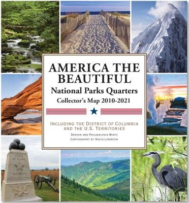 America the Beautiful( National Parks Quarters Collector's Map 2010-2021( Including the District of Columbia and the Us Territories)[AMER THE BEAUTIFUL NATL PARKS][Other]