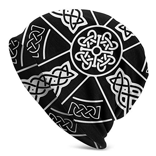 PYTTMSFOR Celtic Cross Knot Irish Beanie Hat Lightweight Baggy Slouchy Elastic Turban for Men and Women,Confinement Cap Headwraps