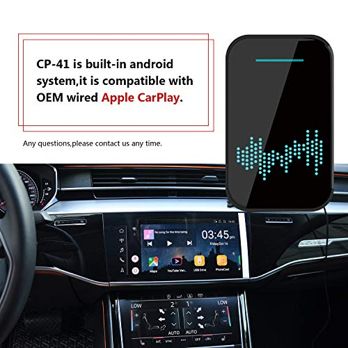 Ymteala Wireless Carplay Car Dongle, Dual Operation Systems Carplay & Android, Suitable for iOS Android Navigation Mirror Link Voice Control, Original Factory Car Stereo ONLY…