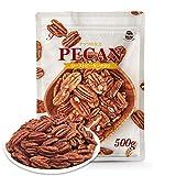 素焼き ピーカンナッツ(ロースト)500g 無塩 無添加 産地直輸入 便利なチャック付袋 防災食品 非常食 備蓄食 保存食