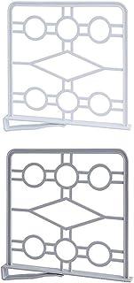 N/A. Lot de 4 étagères de rangement pour vêtements - Séparateur de penderie - 2 couleurs au choix - Étagère de rangement p...