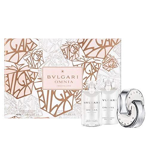 Bvlgari Omnia Crystalline Set contains Eau de Toilette 40/Body Lotion 40/Shower Gel 40