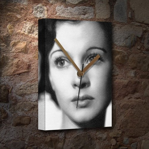 H720 (4 SEASONS) VIVIEN LEIGH - Canvas Clock (A4 - Signed by the Artist) #js002