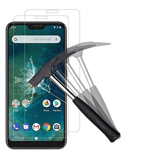 ANEWSIR [2 Stück Schutzfolie für Xiaomi Mi A2 Lite, 9H Härte, Anti-Kratzen, Anti-Öl, Anti-Bläschen, Schutzfolie Displayschutzfolie Folie für Xiaomi Mi A2 Lite.