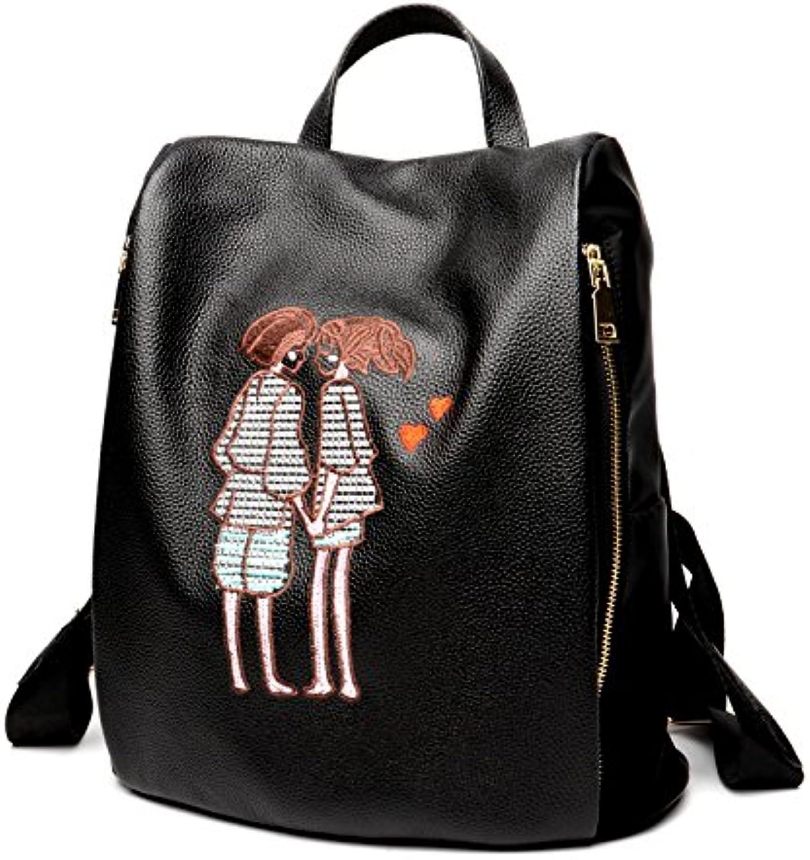 Zhanying Rucksack der der der Frauen weiblicher Kursteilnehmer-Rucksack-Art- und Weiseentwurfs-beiläufiger koreanischer Rucksack (Farbe   schwarz, Größe   M) B07L86Q5PF  Haltbarkeit f28642