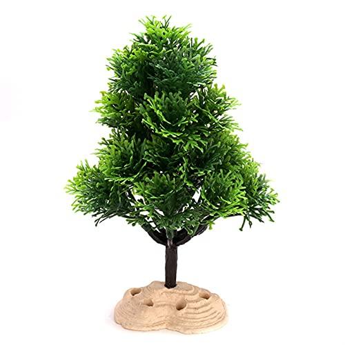 FOOSKOO Aquarium Kunststoffpflanzen Plastikpflanzen für Aquarien Künstliche Wasserpflanzen 2 STÜCKE Weihnachtsbaum Aquarium Dekoration Plastikanlagen für Aquarien Pflanze für Fischtank