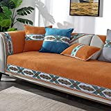 Cubre Antideslizante Naranja, Funda de sofá Universal Four Seasons de Chenilla, Fundas Protectoras de sofá de Esquina para sofá de Sala de Estar, sillón de 35 * 48 Inch
