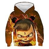 WOEMANE Sudadera con capucha de manga larga y diseño 3D para niños, unisex, estilo informal, A8., 140 cm