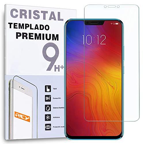 REY Protector de Pantalla para Lenovo Z5, Cristal Vidrio Templado Premium