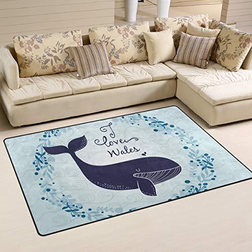 FANTAZIO Teppich-Zubehör, abstrakt, gewellt und Blumen-Wal Eingangsmatten für Ecken und Kanten, Anti-Curling Idealer Teppich-Stopper 78,7 x 50,8 cm/152,4 x 99,1 cm 60 x 39 inch 1